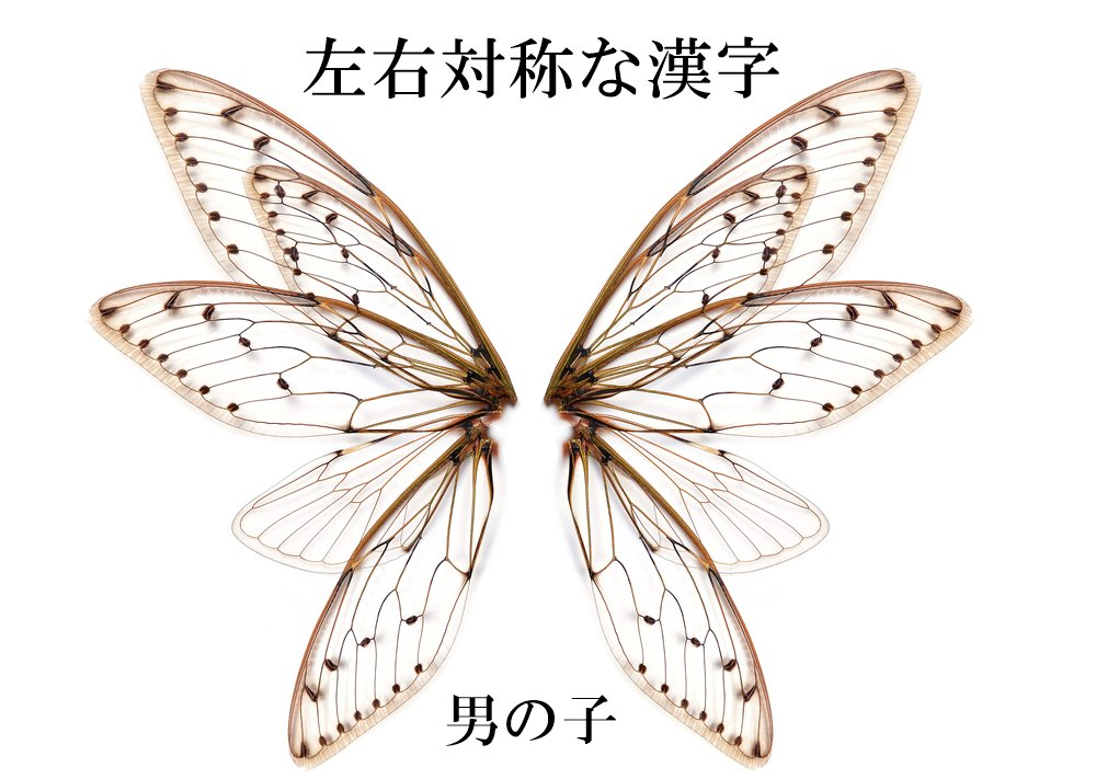 左右対称な漢字の男の子名前